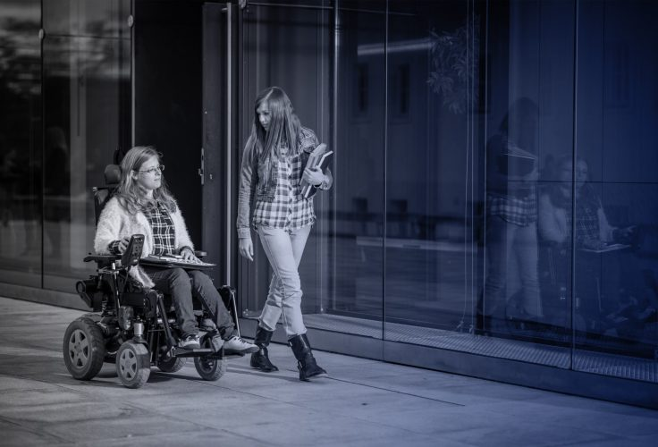 Two students, one disabled the other nondisabled