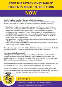 Day of Action leaflet