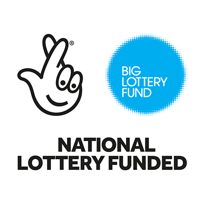 """Big Lottery Fund logo: """"National Lottery funded"""""""