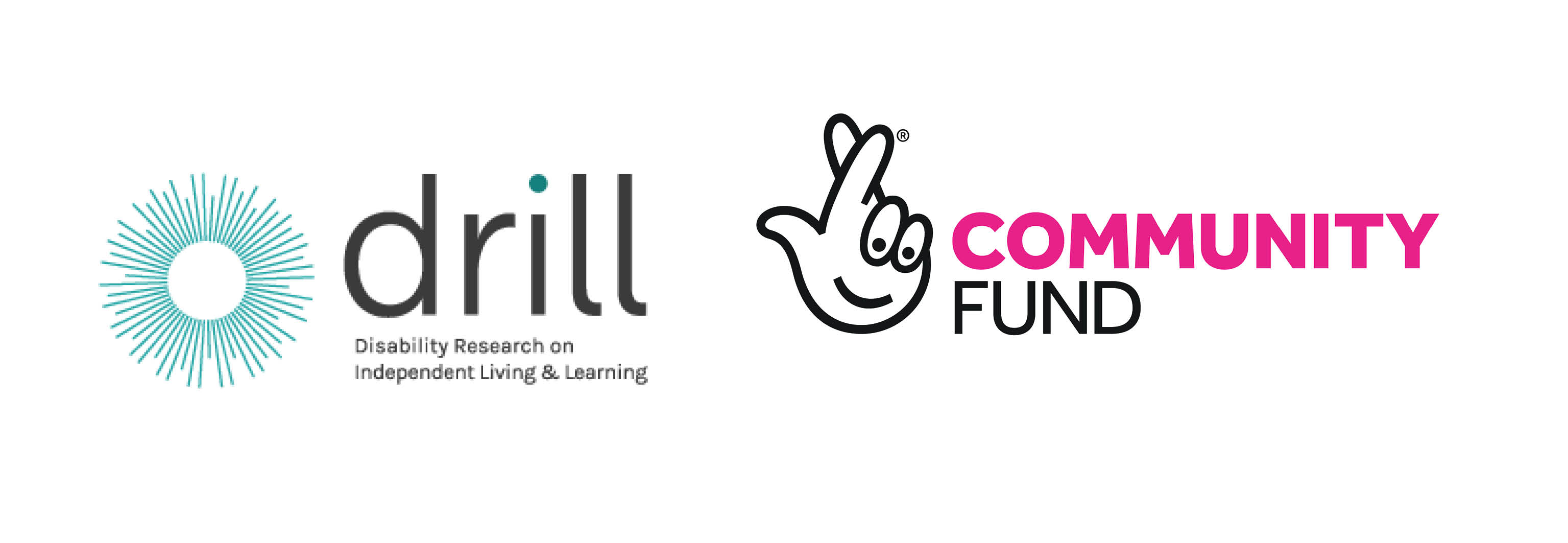 logos for the DRILL project and National Lottery community Fund