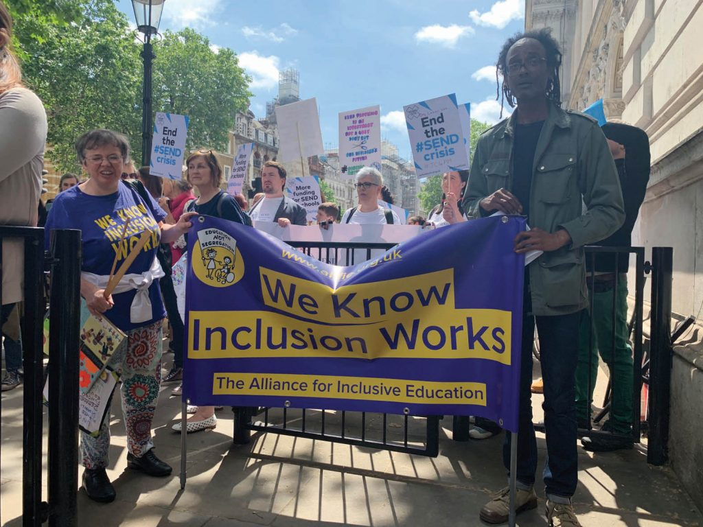 "ALLFIE's ""We know inclusion works"" banner"