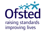 "Ofsted logo stating ""Ofsted, raising standards, improving lives"""