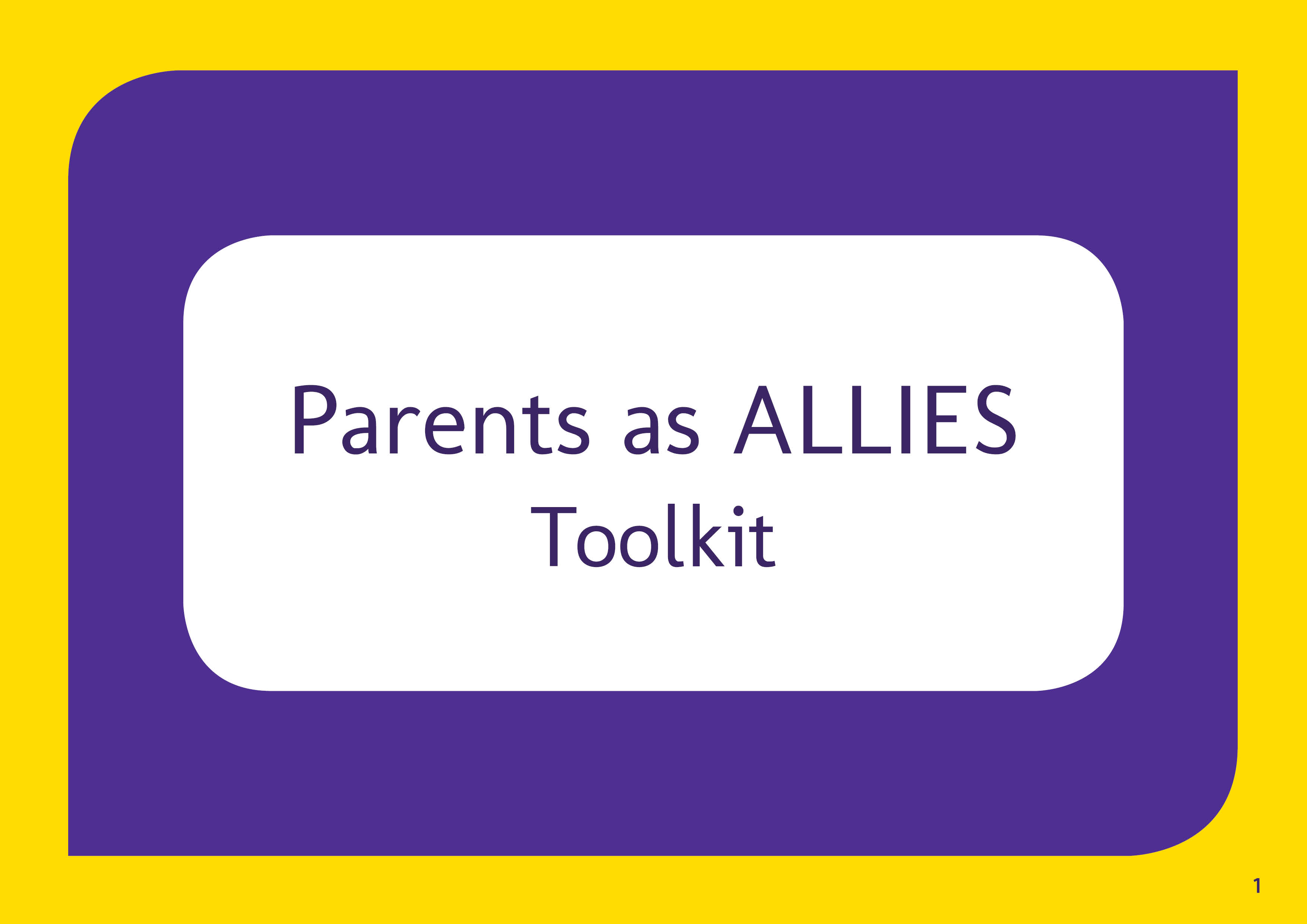 "Cover of ""parents as allies"" toolkit"