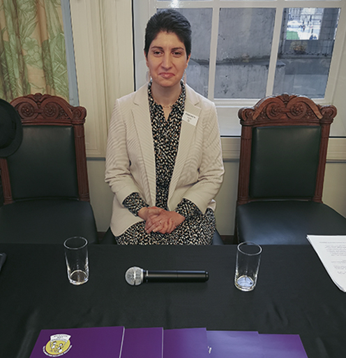 Accessibility Plans research report author, Dr Armineh Soorenian, at the Supreme Court launch