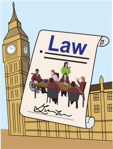 Graphic illustrating Parliament education law
