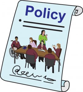 Graphic illustrating school policy on education