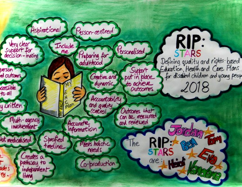 RIP:STARS Graphic Story: Defining quality and rights based Education, Health and Care Plans for Disabled children and Young people