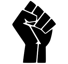 Black Lives Matter raised fist logo