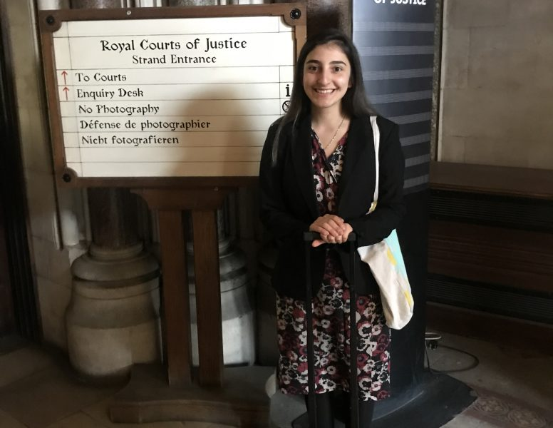 Melissa Acar at the Royal Courts of Justice