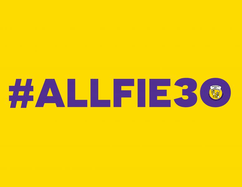 #ALLFIE30 logo
